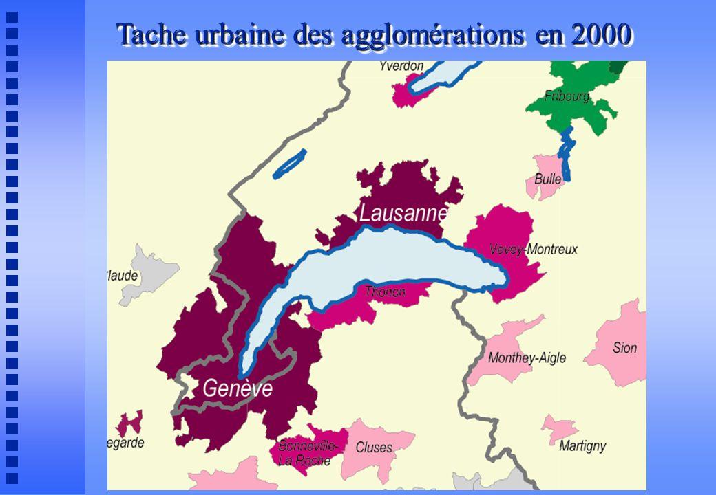 Tache urbaine des agglomérations en 2000