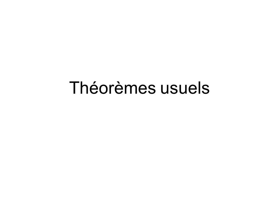 Théorèmes usuels