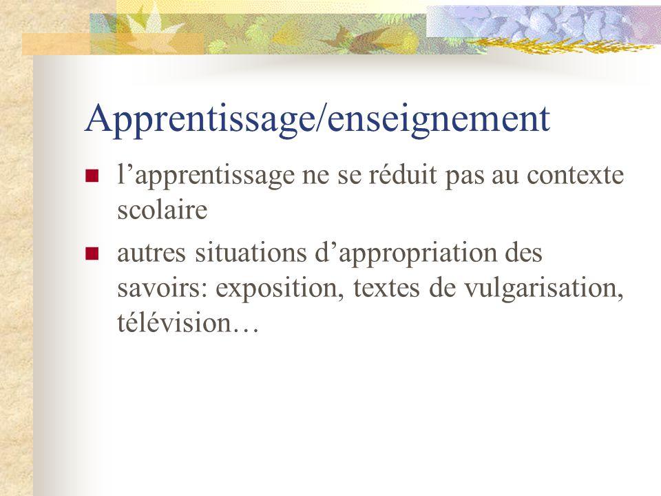 Apprentissage/enseignement