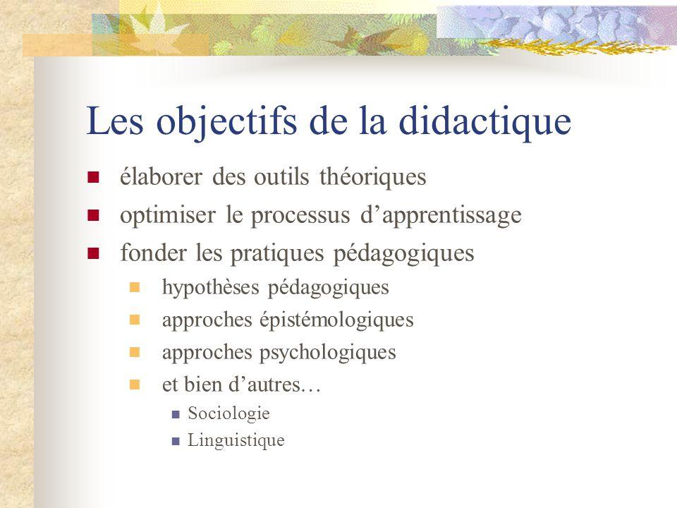 Les objectifs de la didactique