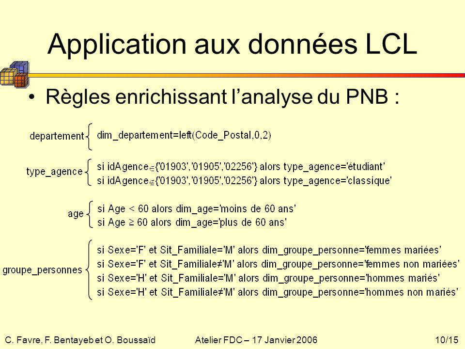 Application aux données LCL