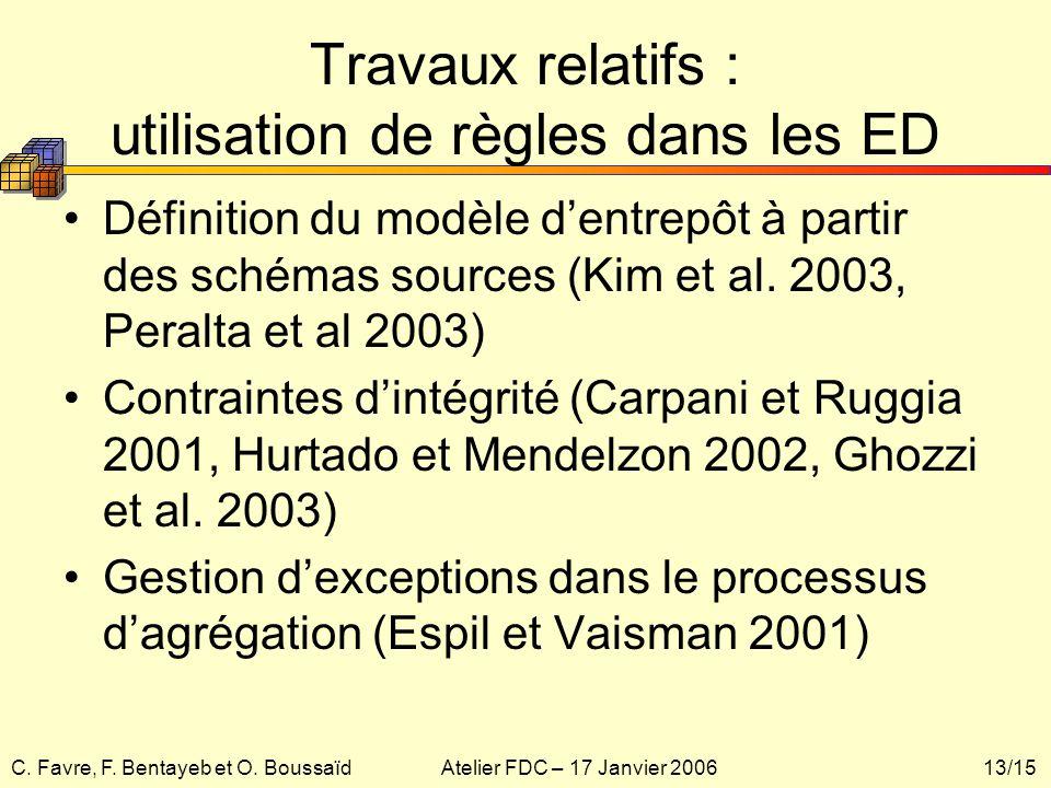 Travaux relatifs : utilisation de règles dans les ED