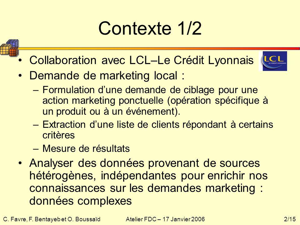 Contexte 1/2 Collaboration avec LCL–Le Crédit Lyonnais
