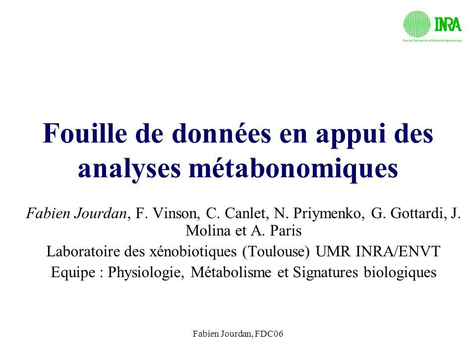 Fouille de données en appui des analyses métabonomiques