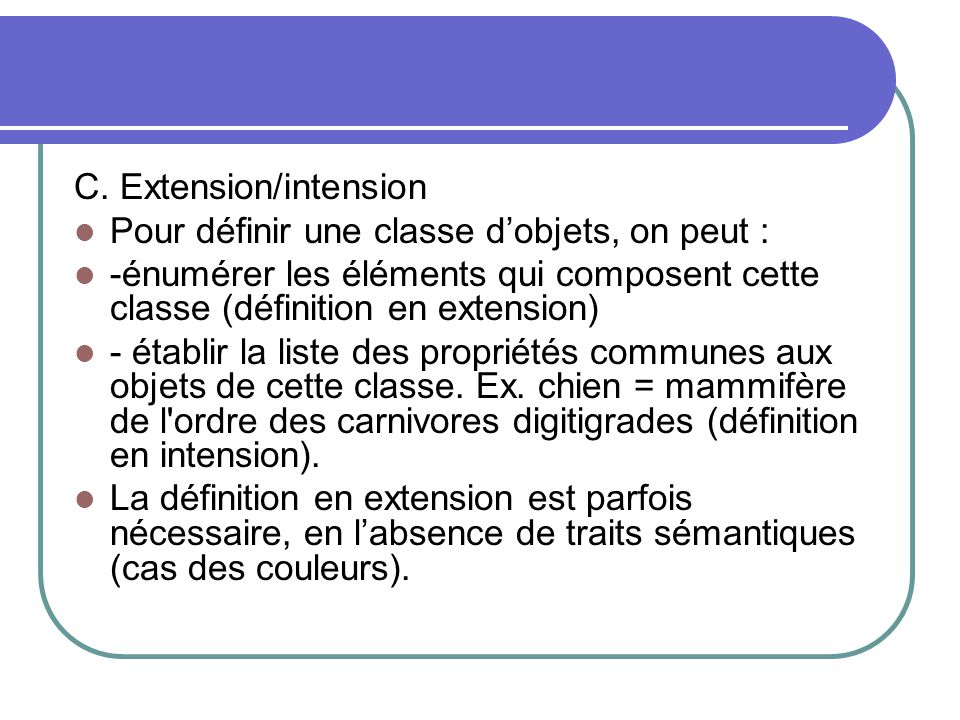 C. Extension/intension
