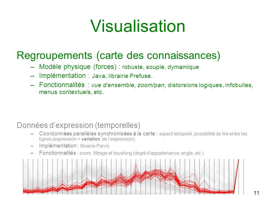 Visualisation Regroupements (carte des connaissances)