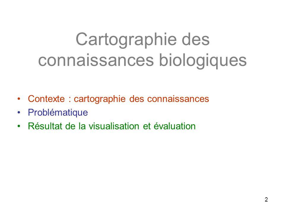 Cartographie des connaissances biologiques