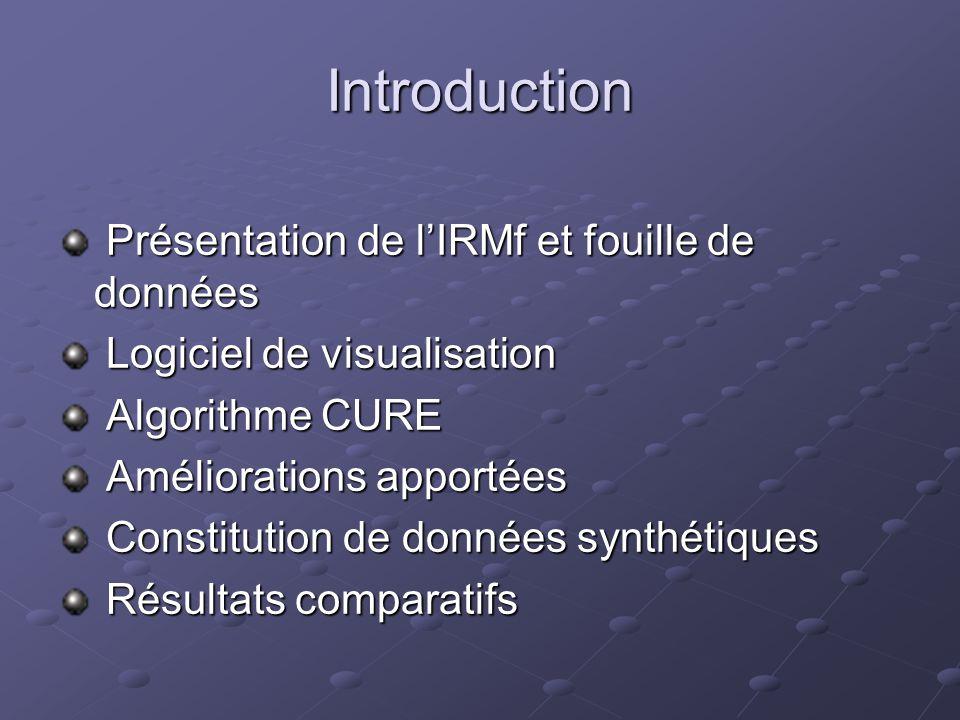 Introduction Présentation de l'IRMf et fouille de données