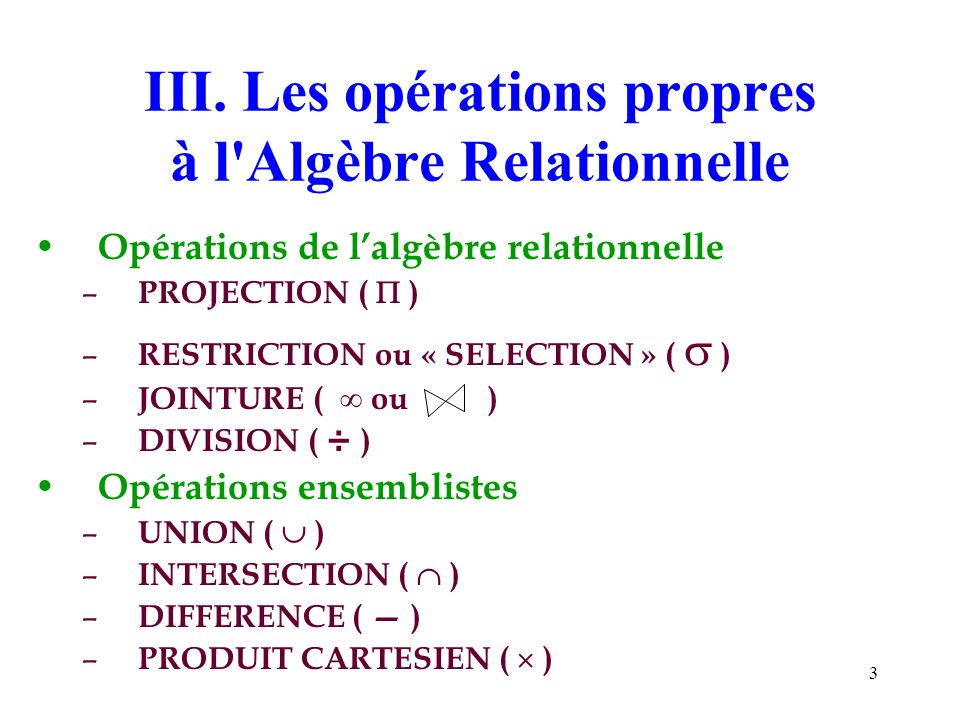 Algèbre Relationnelle: Division - YouTube