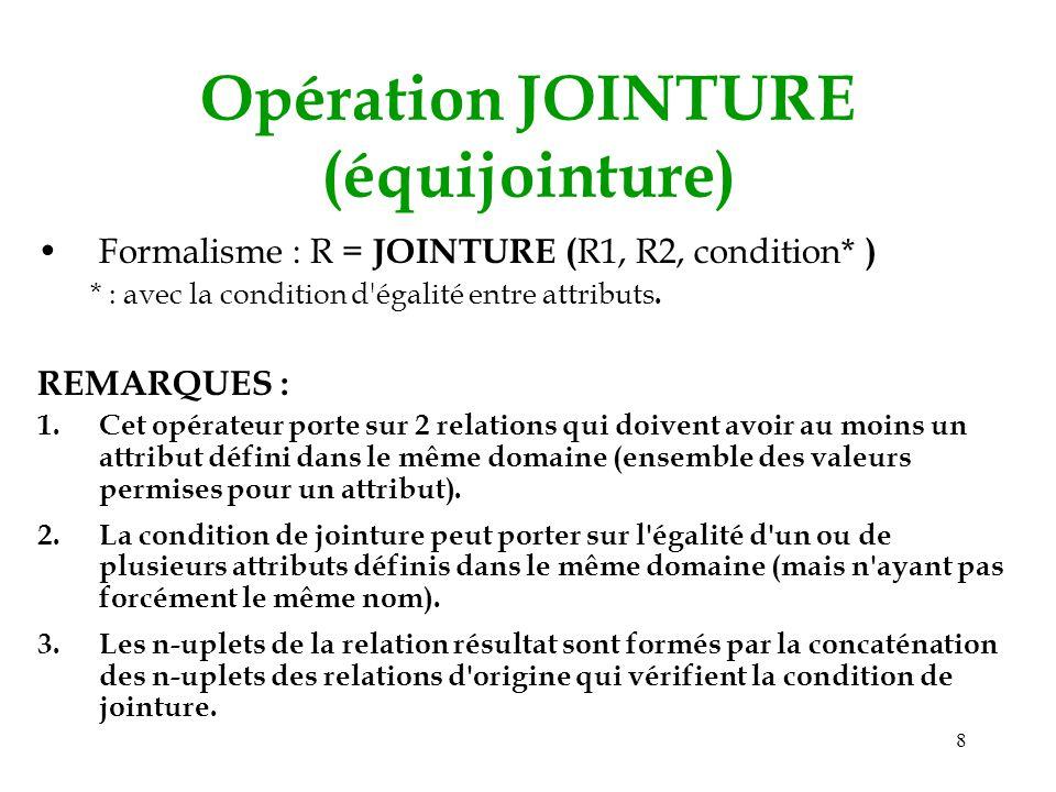 Opération JOINTURE (équijointure)