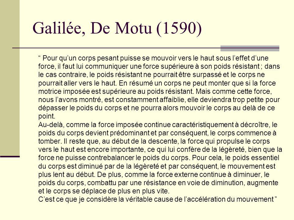 Galilée, De Motu (1590)