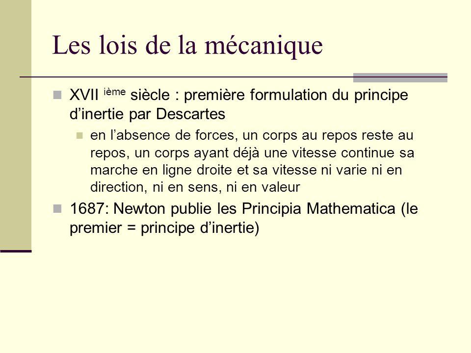 Les lois de la mécanique
