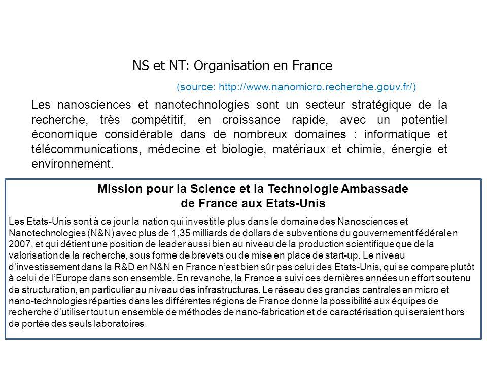 NS et NT: Organisation en France