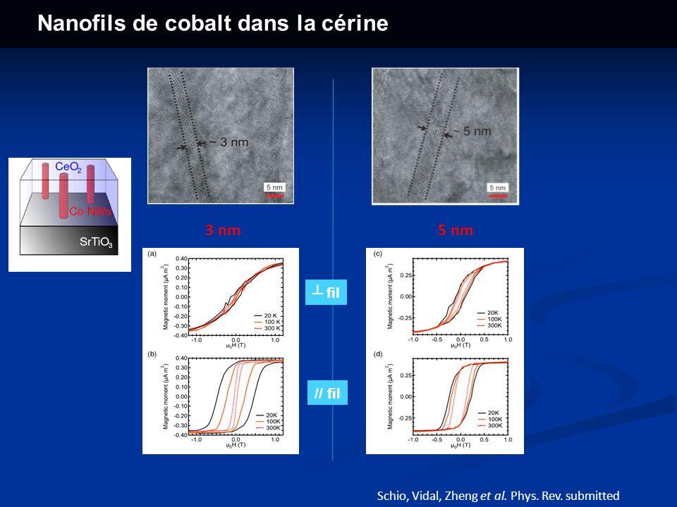 Nanofils de cobalt dans la cérine