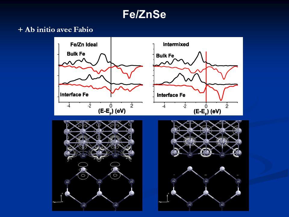 Fe/ZnSe + Ab initio avec Fabio
