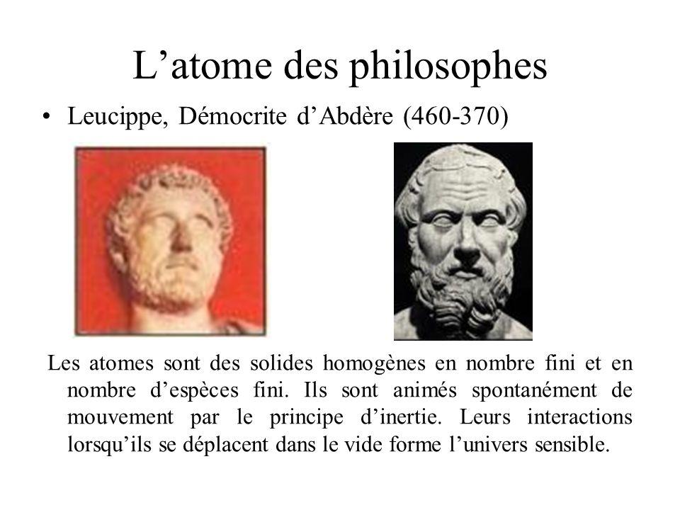 L'atome des philosophes
