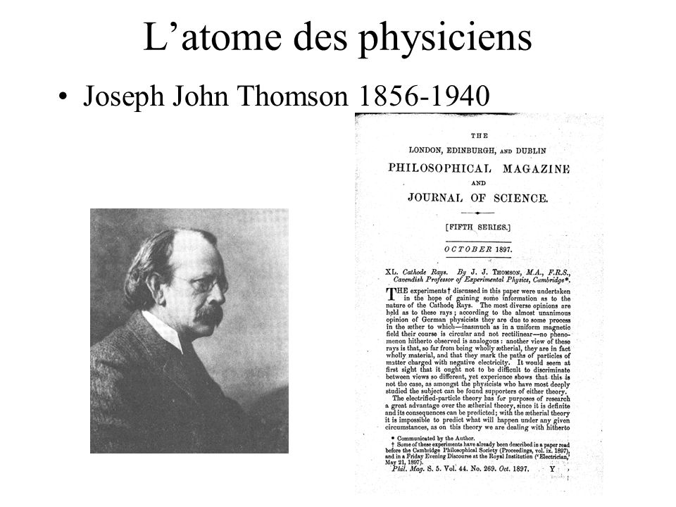 L'atome des physiciens
