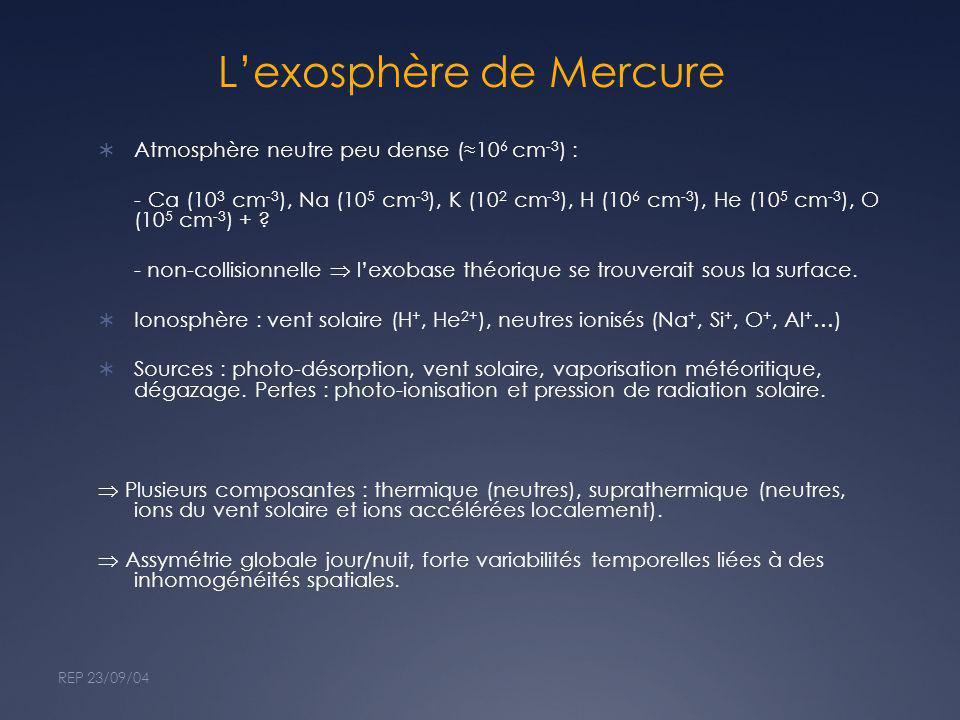 L'exosphère de Mercure