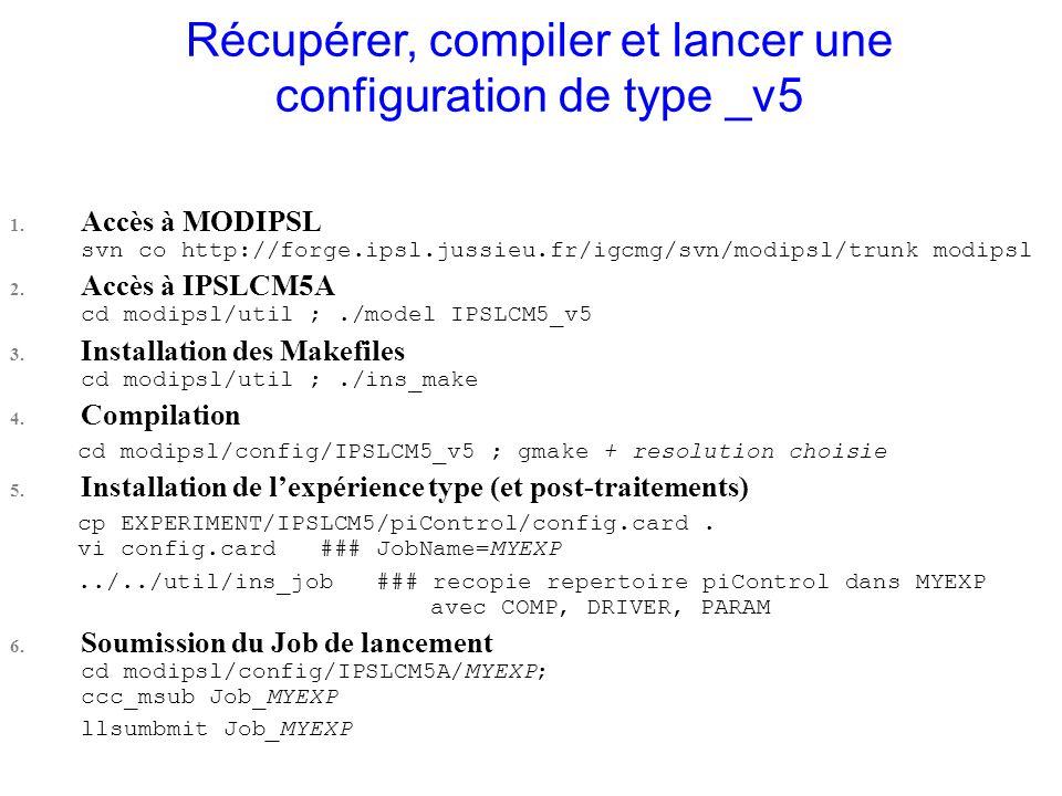 Récupérer, compiler et lancer une configuration de type _v5