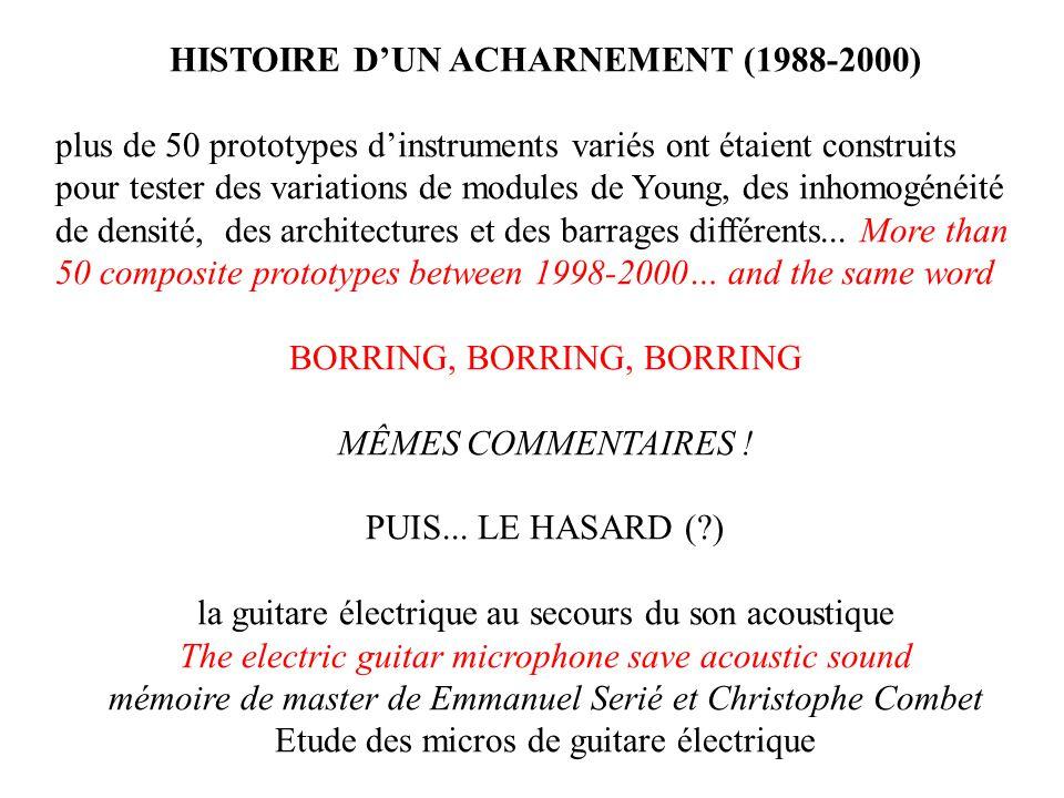 HISTOIRE D'UN ACHARNEMENT (1988-2000)