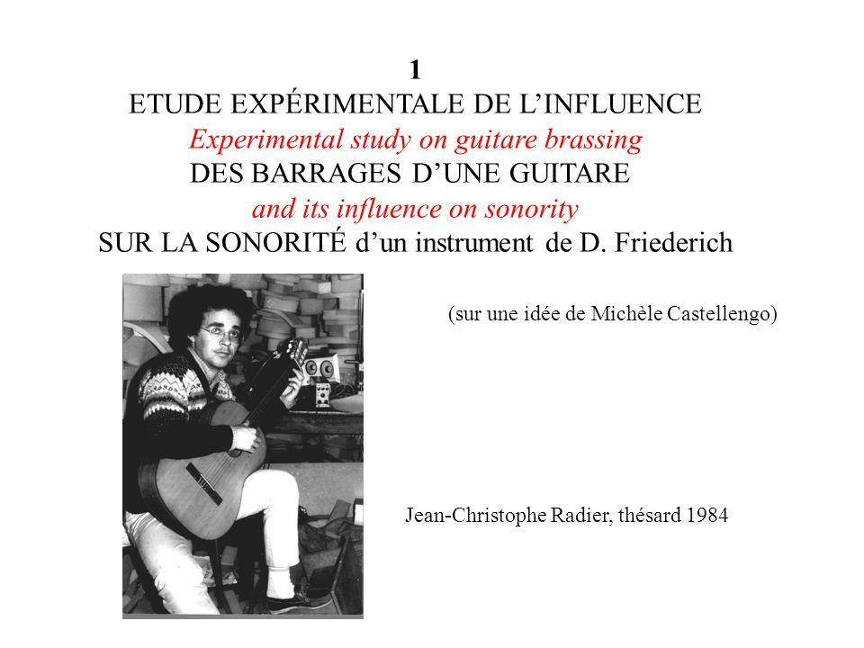 ETUDE EXPÉRIMENTALE DE L'INFLUENCE
