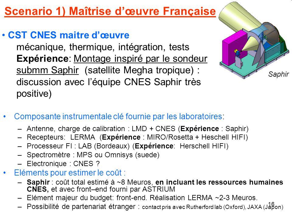 Scenario 1) Maîtrise d'œuvre Française