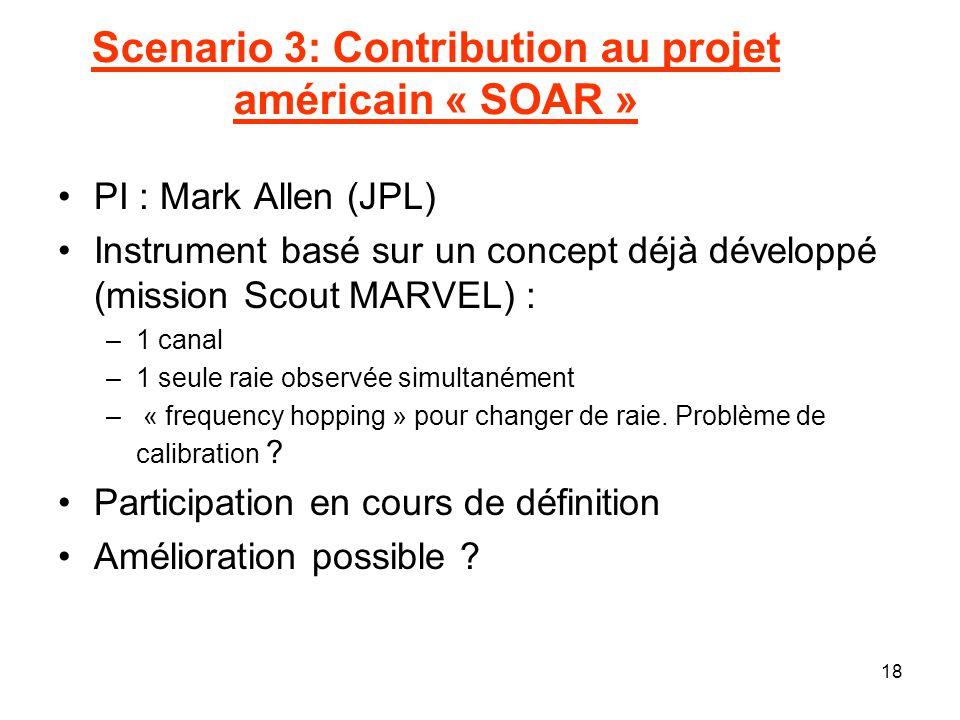 Scenario 3: Contribution au projet américain « SOAR »