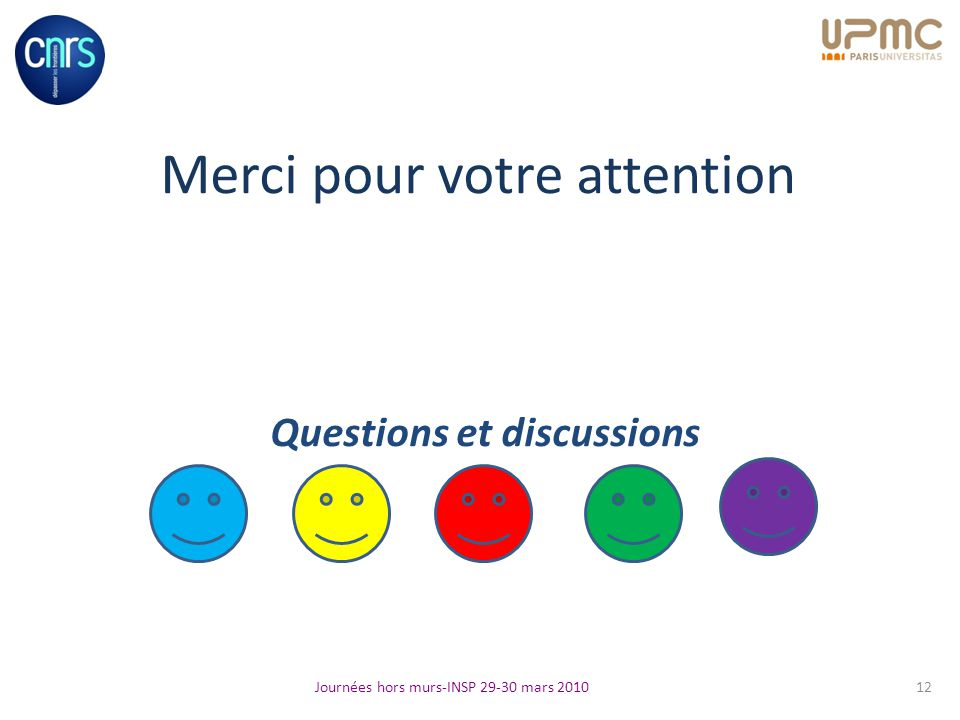 Merci pour votre attention Questions et discussions