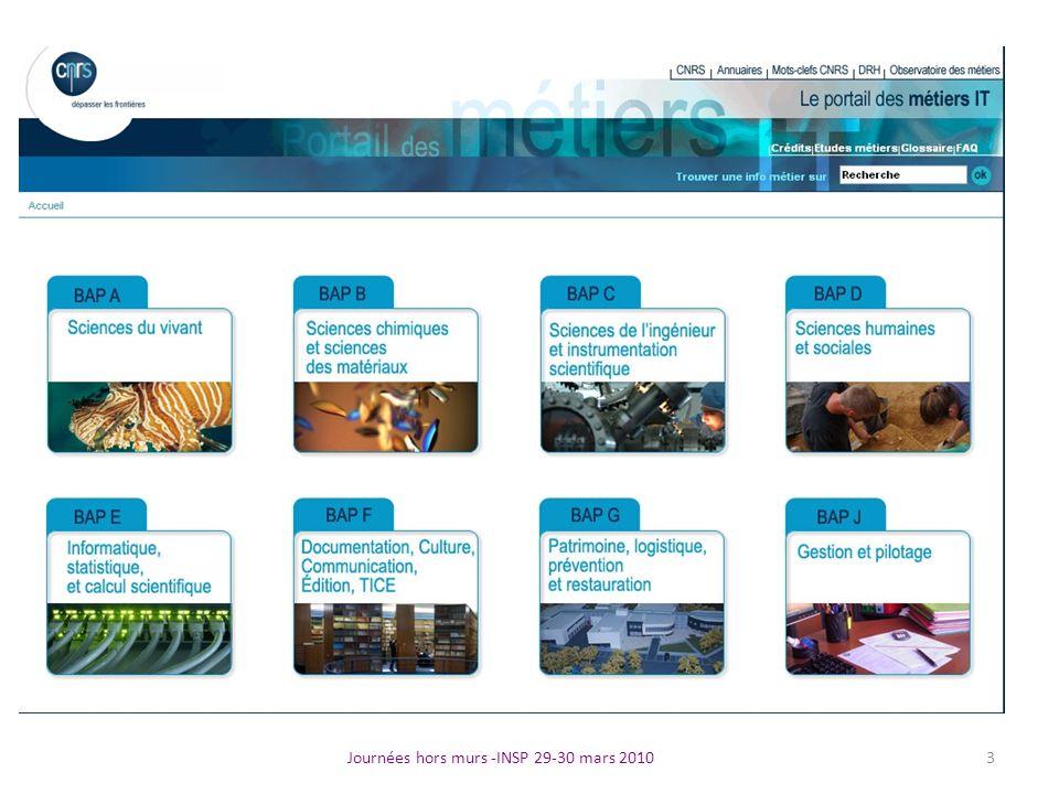 Journées hors murs -INSP 29-30 mars 2010