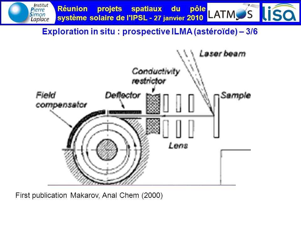 Exploration in situ : prospective ILMA (astéroïde) – 3/6