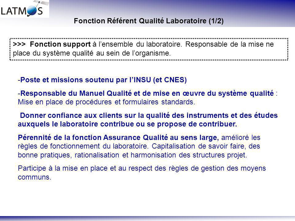 Fonction Référent Qualité Laboratoire (1/2)