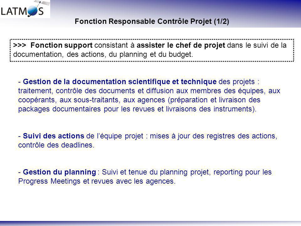 Fonction Responsable Contrôle Projet (1/2)
