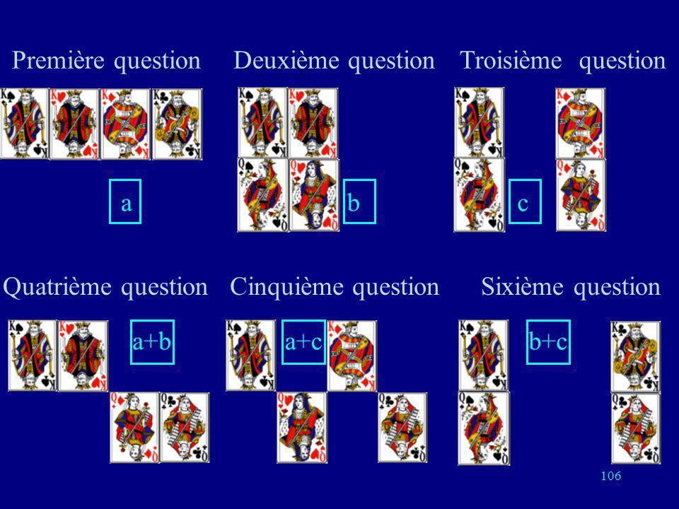 Première question a. Deuxième question. b. Troisième question. c. Quatrième question. a+b. Cinquième question.
