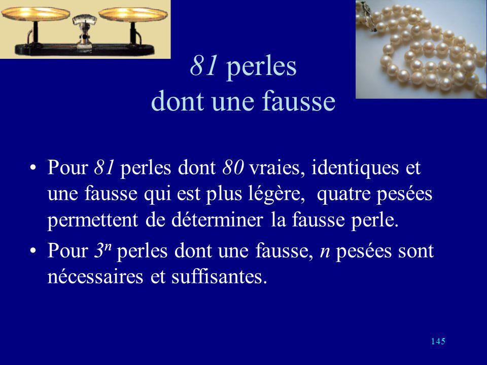 81 perles dont une fausse