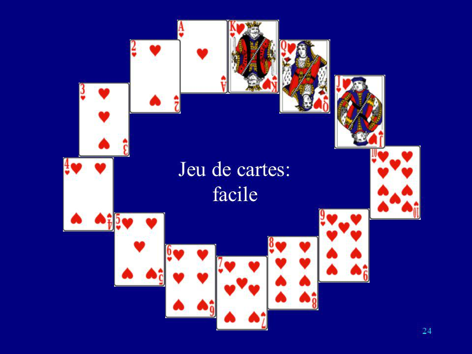 Jeu de cartes: facile