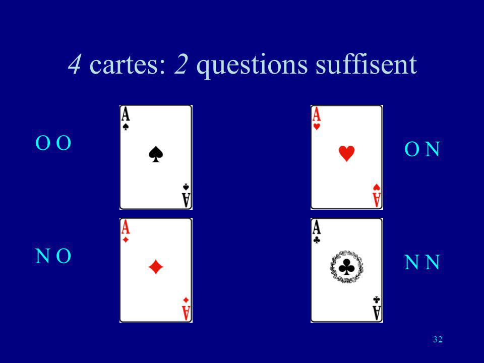 4 cartes: 2 questions suffisent