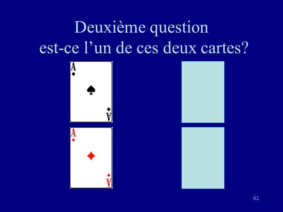 Deuxième question est-ce l'un de ces deux cartes