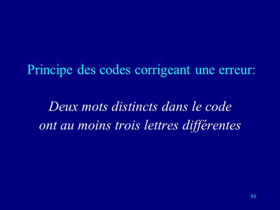 Deux mots distincts dans le code