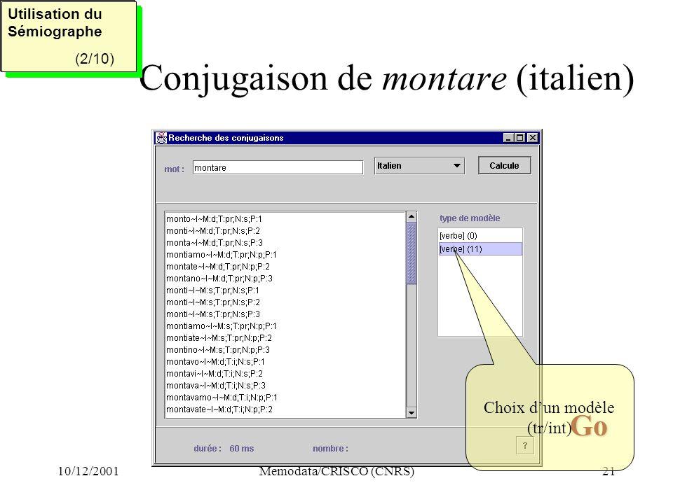 Conjugaison de montare (italien)