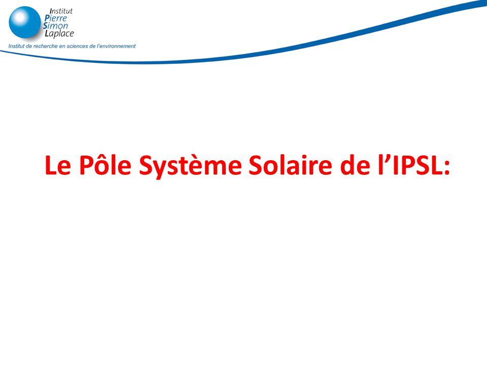 Le Pôle Système Solaire de l'IPSL: