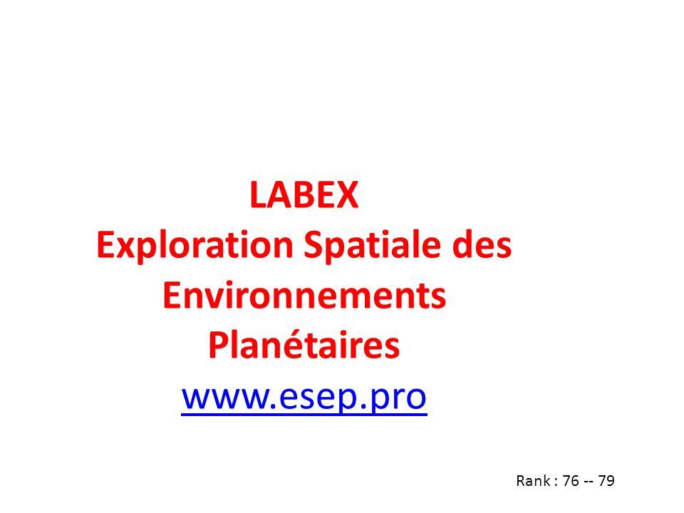 Exploration Spatiale des Environnements Planétaires
