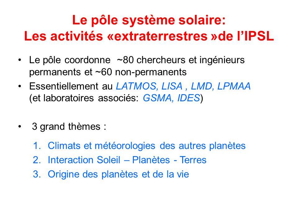 Le pôle système solaire: Les activités «extraterrestres »de l'IPSL