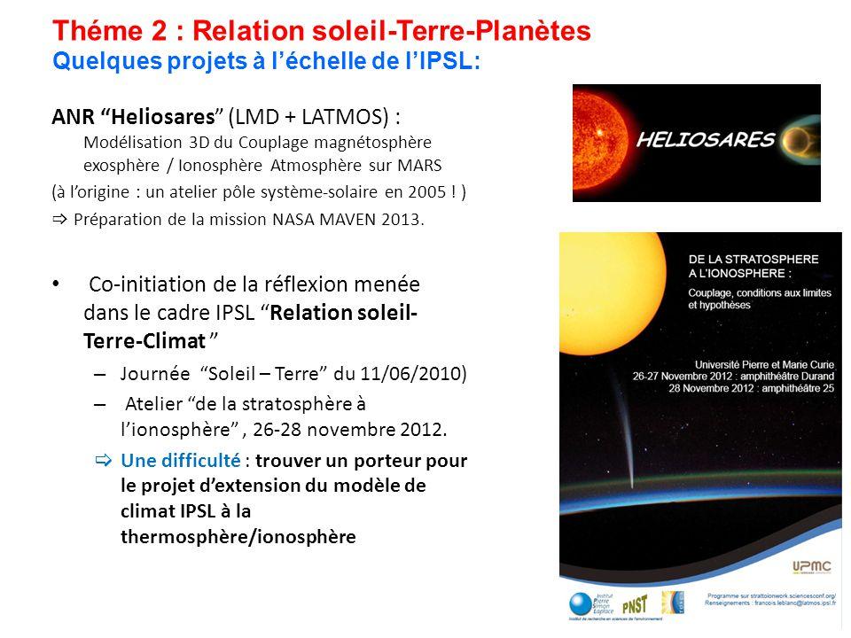 Théme 2 : Relation soleil-Terre-Planètes