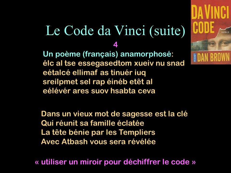 Le Code da Vinci (suite)