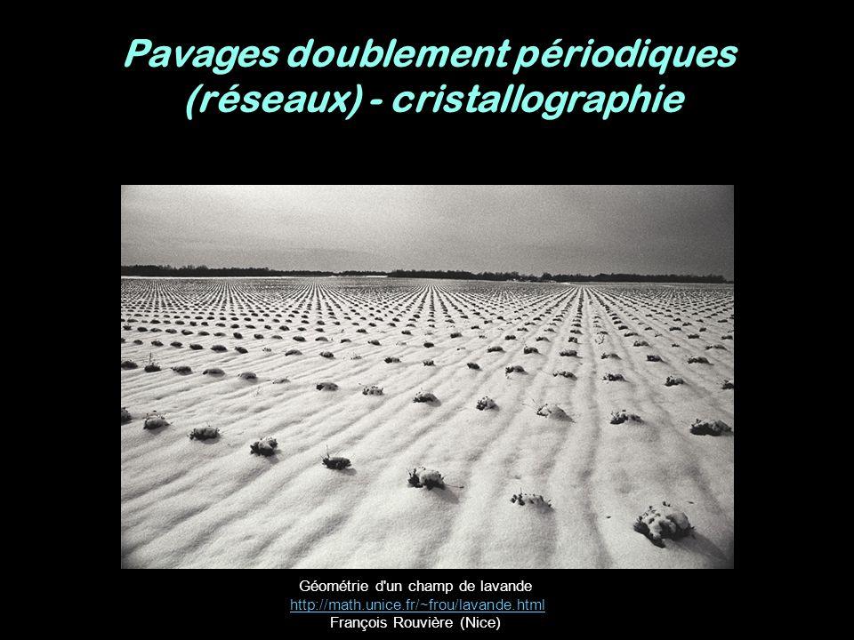 Pavages doublement périodiques (réseaux) - cristallographie