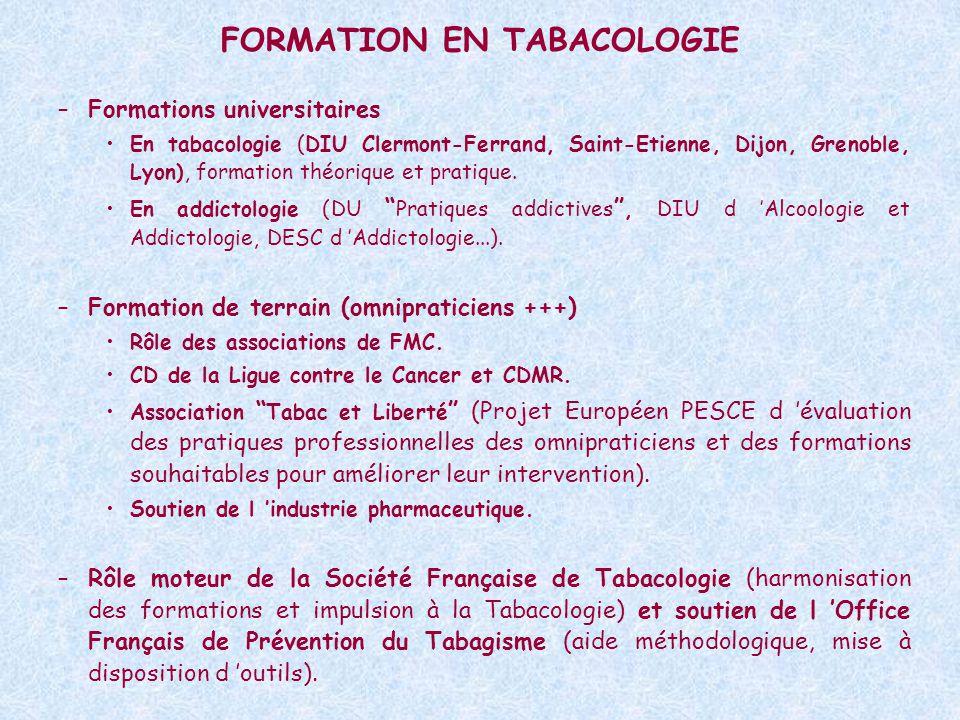 FORMATION EN TABACOLOGIE