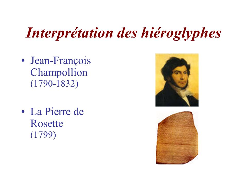 Interprétation des hiéroglyphes