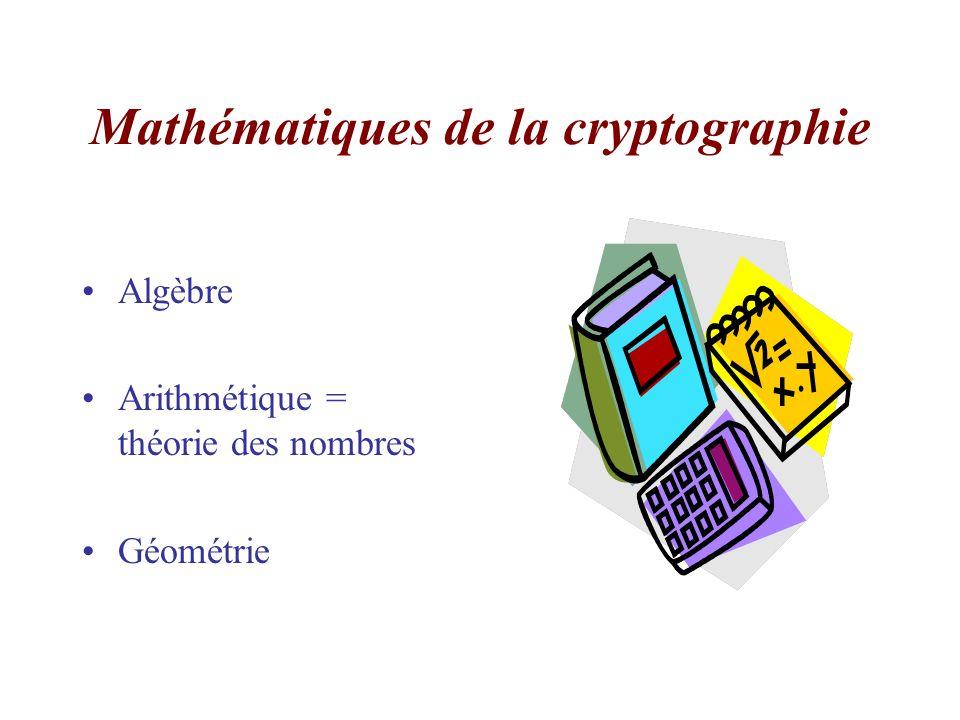Mathématiques de la cryptographie