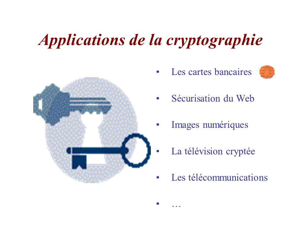 Applications de la cryptographie