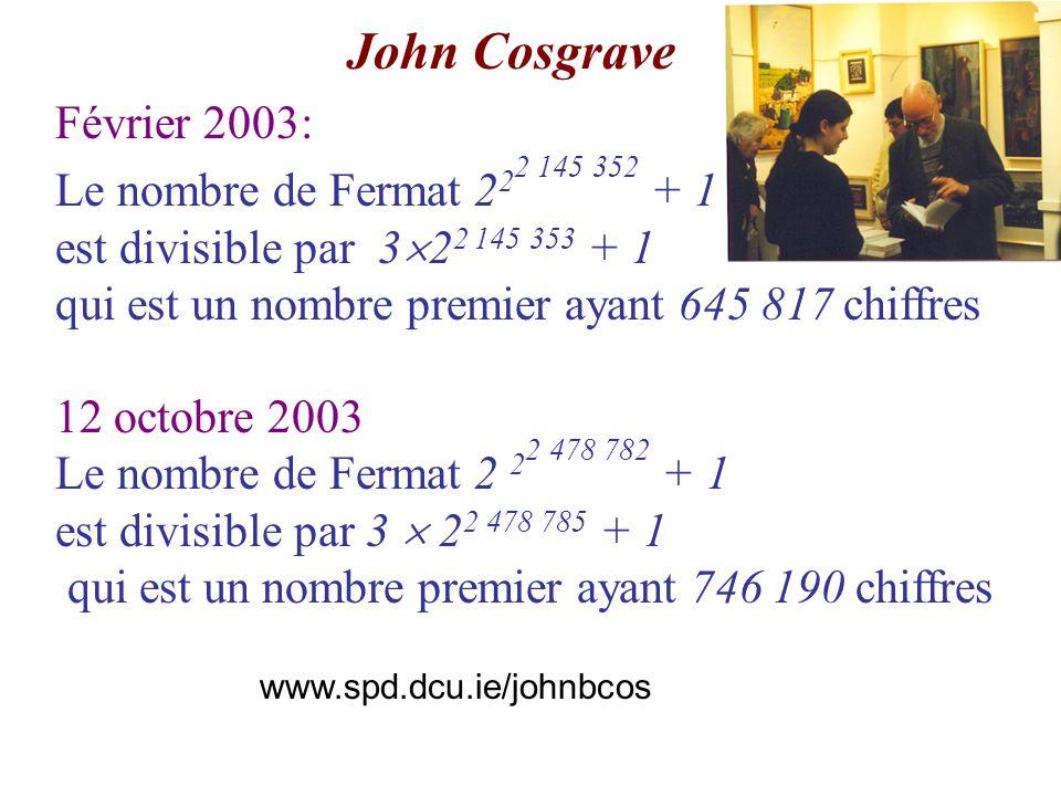 John Cosgrave (1946- ) Février 2003: